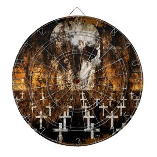 Cible De Fléchettes Crâne, cimetière, grunge, Goth, illustration