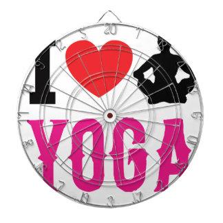 Cible De Fléchettes fille d'amour de yoga mignonne