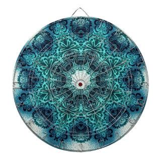 Cible De Fléchettes Henné turquoise de mandala Paisley de turquoise
