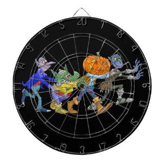 Cible De Fléchettes Illustration de bande dessinée d'un Halloween