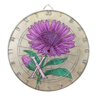 Cible De Fléchettes Illustration de monogramme de fleur de Xeranthemum