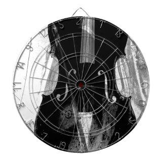 Cible De Fléchettes Illustration noire et blanche de violoncelle
