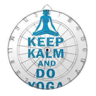 Cible De Fléchettes maintenez calme et faites le yoga