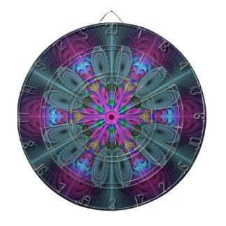 Cible De Fléchettes Mandala d'art coloré central de fractale avec le
