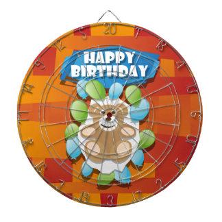 Cible De Fléchettes Nounours de joyeux anniversaire d'illustration
