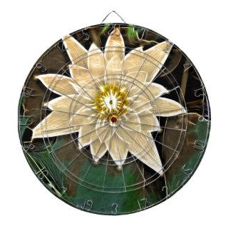 Cible De Fléchettes Nouveau yoga Namaste Lotus blanc de bouddhisme Zen