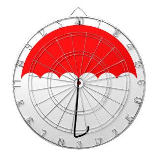 Cible De Fléchettes Parapluie rouge