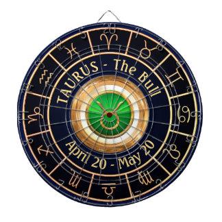 Cible De Fléchettes Symbole d'horoscope de Taureau
