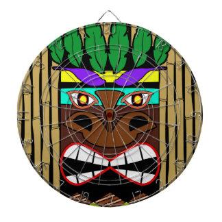 Cible De Fléchettes Totem avec la partie en bambou de Luau
