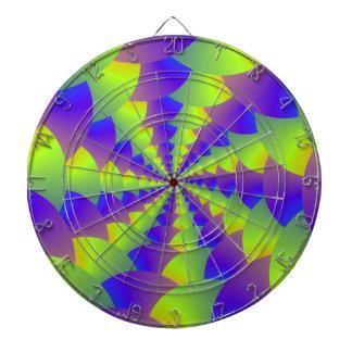 Cible en spirale jaune et pourpre