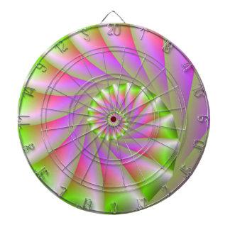 Cible en spirale rose et verte