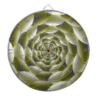 Cible en spirale verte et blanche
