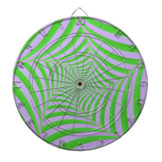 Cible en spirale verte et lilas