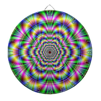 Cible psychédélique d'hexagone