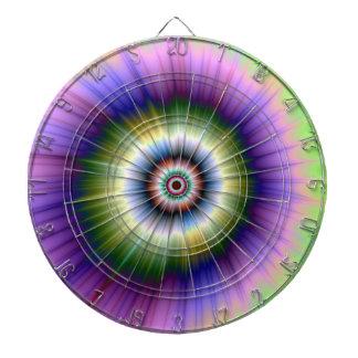 Cible teinte nouée d'explosion de couleur