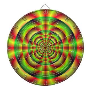 Cible verte et jaune rouge d'anneaux