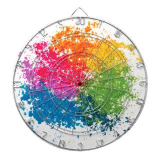 Cibles De Fléchettes Arc-en-ciel de poudre de couleur