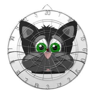 Cibles De Fléchettes Chat noir aux yeux verts
