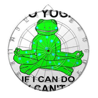 Cibles De Fléchettes Conception de inspiration de grenouille de yoga