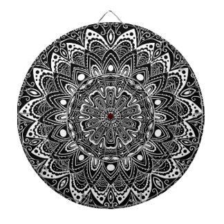 Cibles De Fléchettes Kaléidoscope noir et blanc