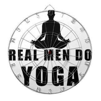 Cibles De Fléchettes les vrais hommes font le yoga