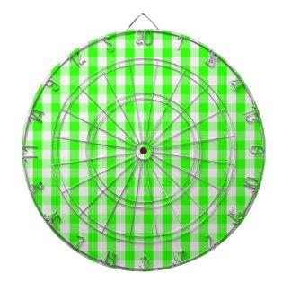 Cibles De Fléchettes Motif vert au néon de guingan par Shirley Taylor