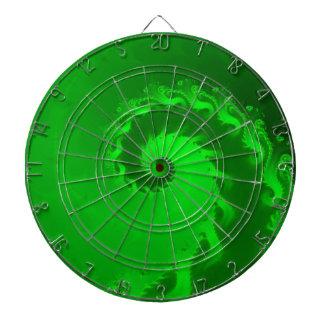 Cibles De Fléchettes Panneau de dard en spirale vert de fractale