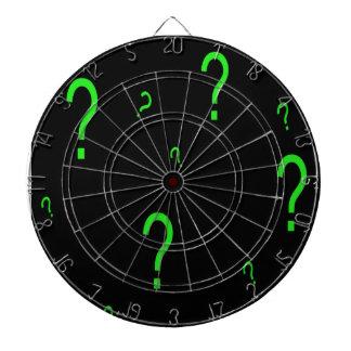 Cibles De Fléchettes Point d'interrogation vert au néon