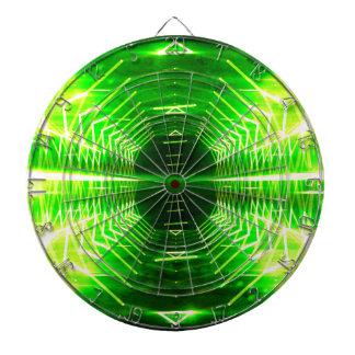 Cibles De Fléchettes Vortex rougeoyant frais de graphique moderne, vert