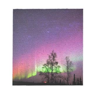 Ciel Alaska de lumières du nord d'art de texture Blocs Notes