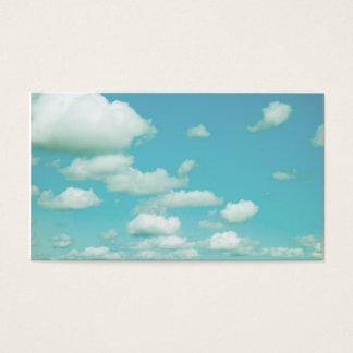 ciel bleu et nuages de modèle de carte de visite