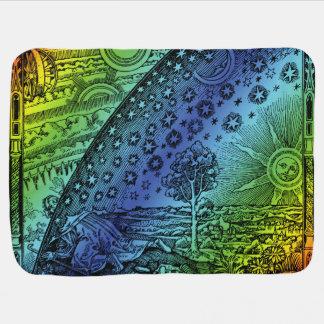 Ciel de Flammarion et illustration de gravure de Couvertures De Bébé