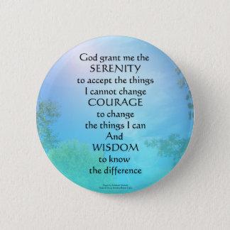 Ciel de septembre de prière de sérénité badge rond 5 cm
