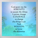 Ciel de septembre de prière de sérénité posters