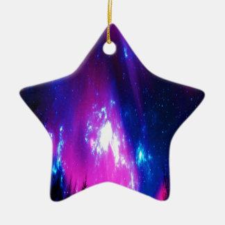 Ciel d'hiver d'améthyste ornement étoile en céramique