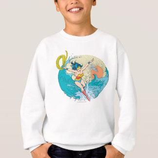 Ciel d'océan de femme de merveille sweatshirt