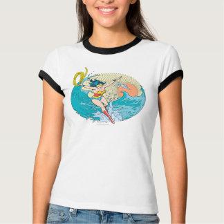 Ciel d'océan de femme de merveille t-shirt