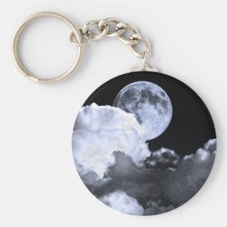 Ciel nocturne de lune porte-clés