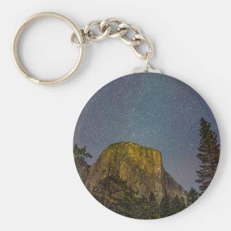 Ciel nocturne d'EL Capitan de vallée de Yosemite Porte-clés