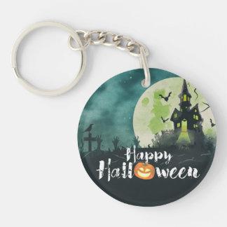 Ciel nocturne hanté éffrayant Halloween de costume Porte-clés