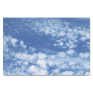 Ciel nuageux papier mousseline