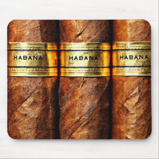 Cigares cubains Habana Mousepad Tapis De Souris