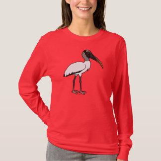 Cigogne en bois de Birdorable T-shirt