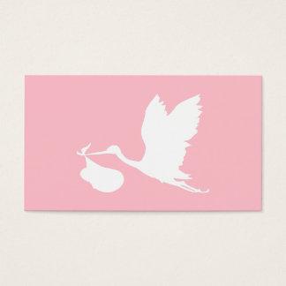 Cigogne rose et blanche de vol cartes de visite