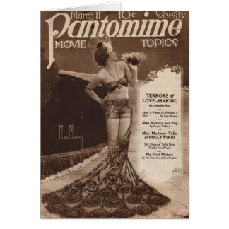 Cinéma vintage : Carte de voeux de Mae Murray