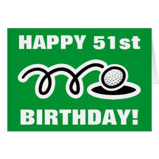 Cinquante-et-unième carte d'anniversaire heureuse