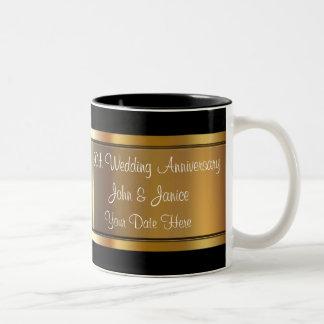 cinquantième Anniversaire de mariage Mug Bicolore