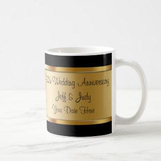 cinquantième Anniversaire de mariage Mug Blanc