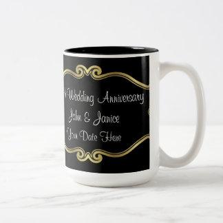 cinquantième Anniversaire de mariage Tasse 2 Couleurs