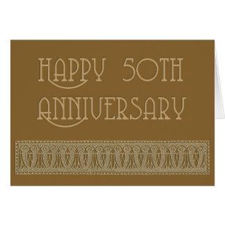 cinquantième anniversaire élégant carte de vœux